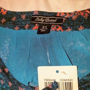 Lucky Brand Dresses - 🆕️ Lucky Brand Midi Dress XS Ocean Blue